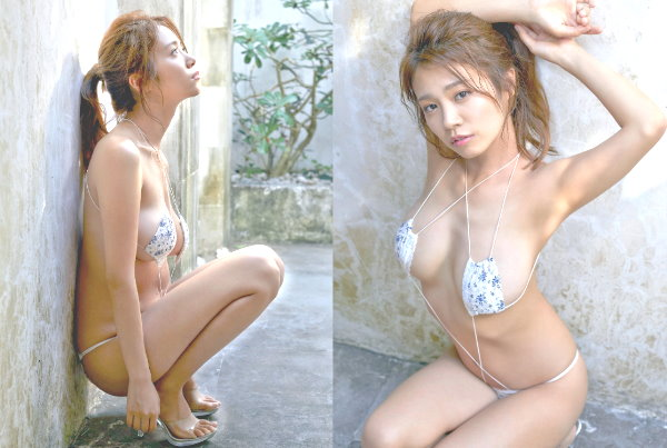 菜乃花さんの美しいS字の実例・スタイルの良さは姿勢で変わる